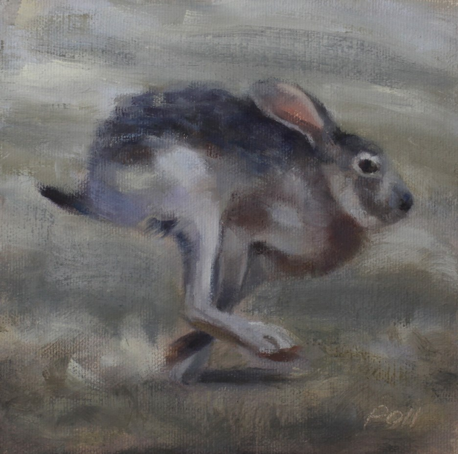 """Running Jack"" original fine art by Pamela Poll"