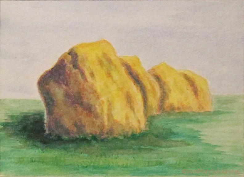 """LandscapeStudy-Mini--33"" original fine art by Mary Sylvia Hines"