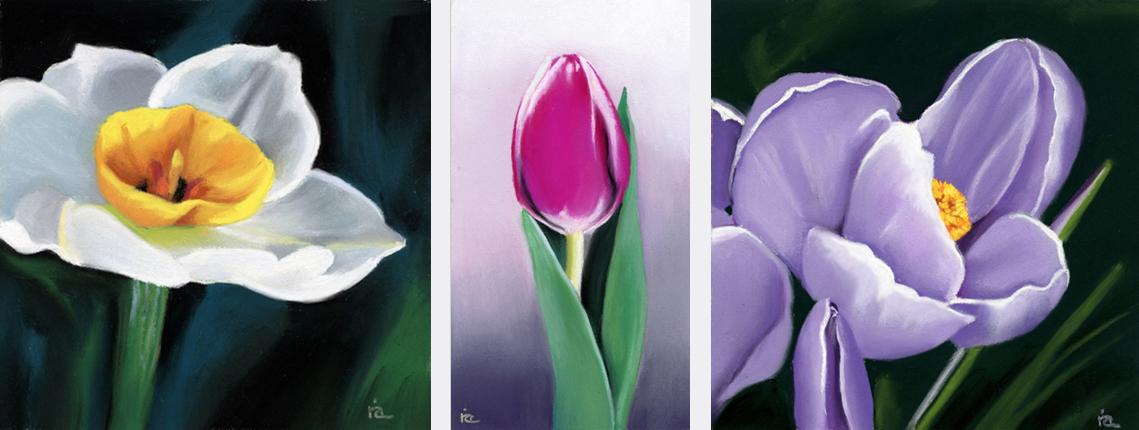 """Shades of Spring"" original fine art by Ria Hills"