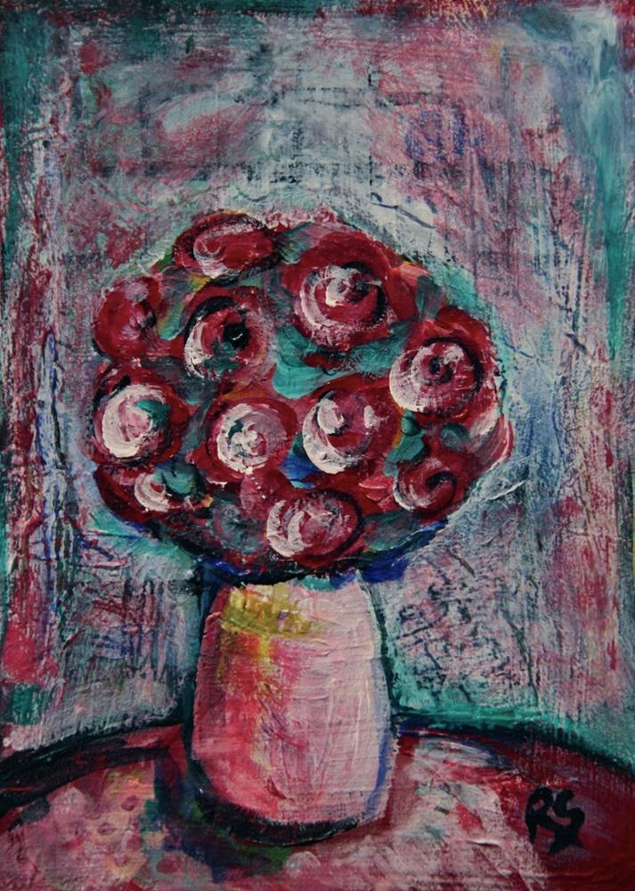 """The Truth About Flowers"" original fine art by Roberta Schmidt"