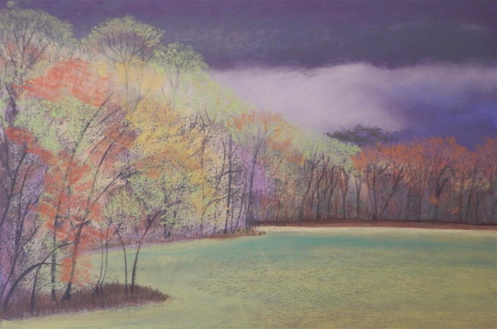 """""""Stormy Spring"""" original fine art by Elaine Shortall"""