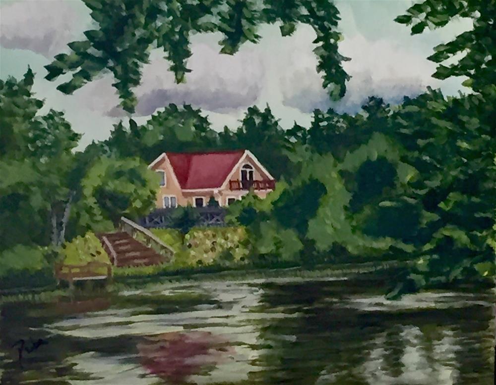 """Across the River"" original fine art by Reisa Peters"