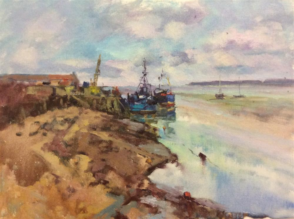 """Leigh On Sea"" original fine art by John Shave"