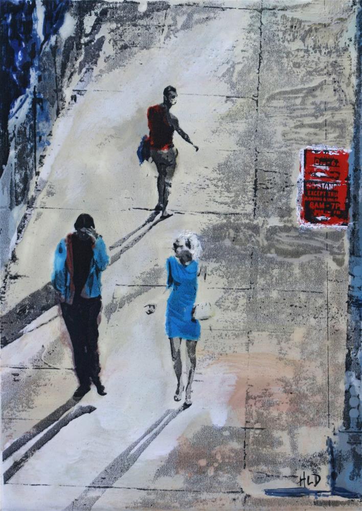 """Attracted"" original fine art by Heather Douglas"