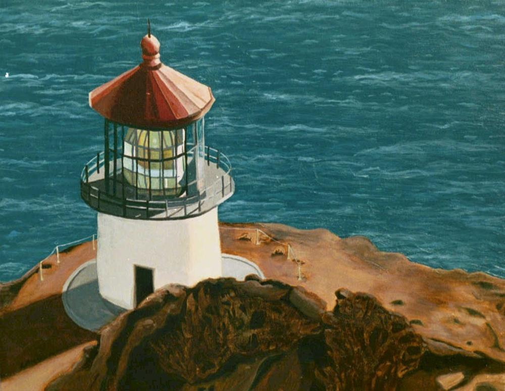 """Lighthouse at Makapu'u Point, Hawaii"" original fine art by Lisa Wiertel"