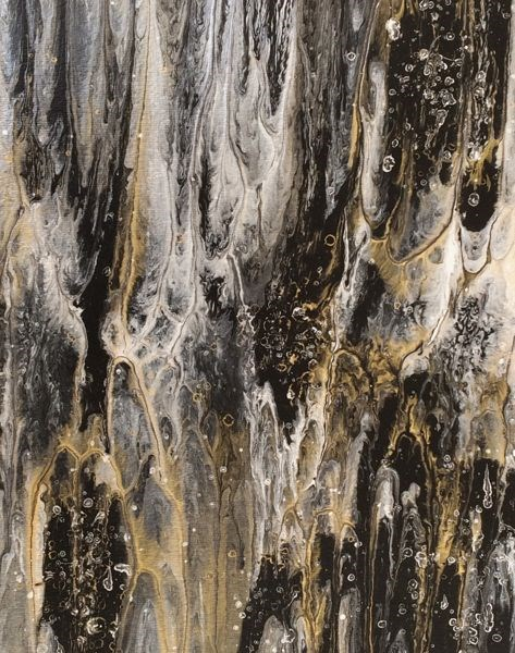"""Abstract Expressionism Painting Granite Study #1 by International Abstract Artist Kimberly Conrad"" original fine art by Kimberly Conrad"