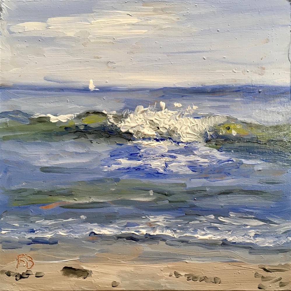 """111 Lake Michigan Wave"" original fine art by Fred Bell"