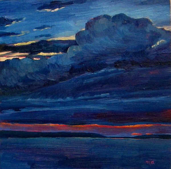 """A Real Unreal Sky"" original fine art by Nicki Ault"