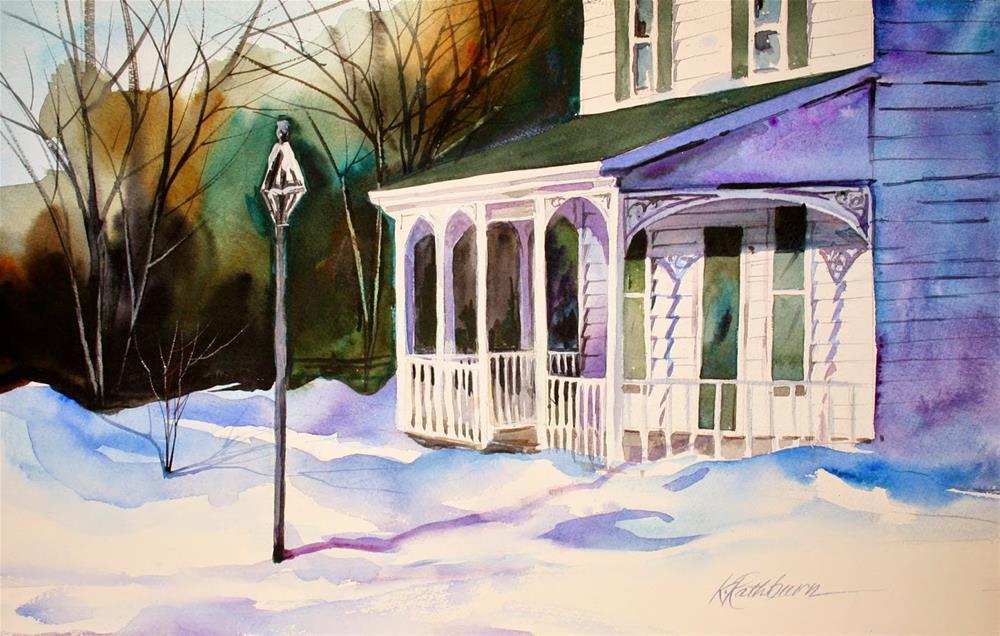 """Winter's Sun"" original fine art by Kathy Los-Rathburn"