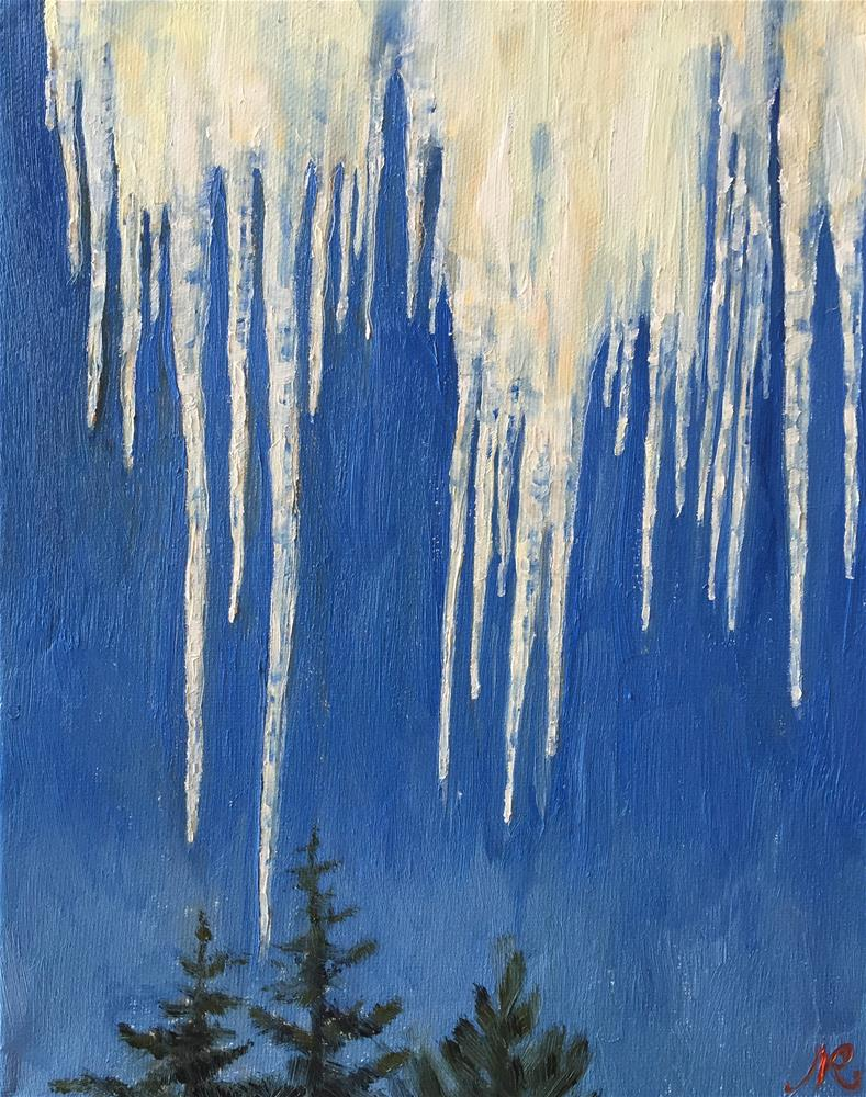"""Icicles"" original fine art by Natasha Ramras"