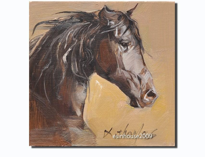 """Dark Horse"" original fine art by Thomas Xie"