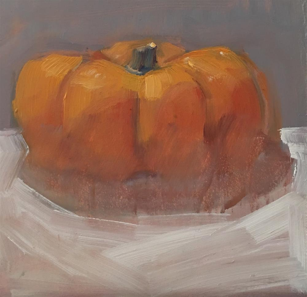 """It's Pumpkin Time"" original fine art by Deborah Newman"