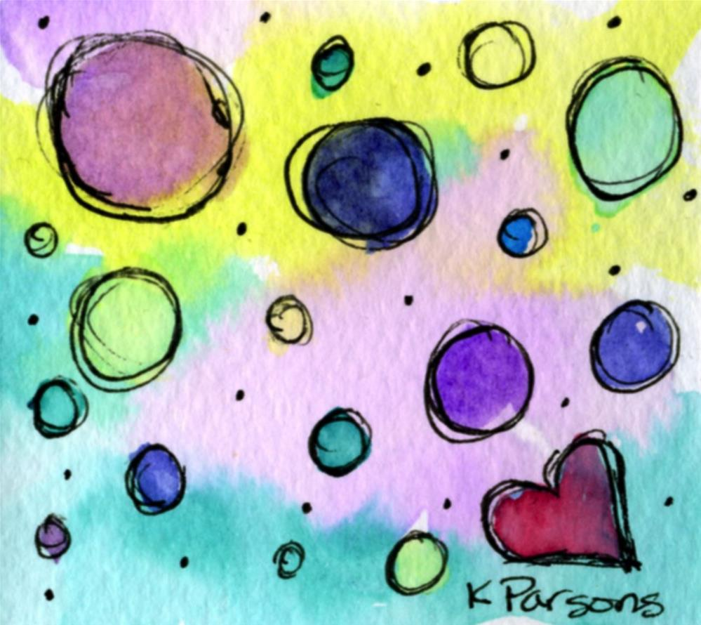 """Loving the Circles"" original fine art by Kali Parsons"