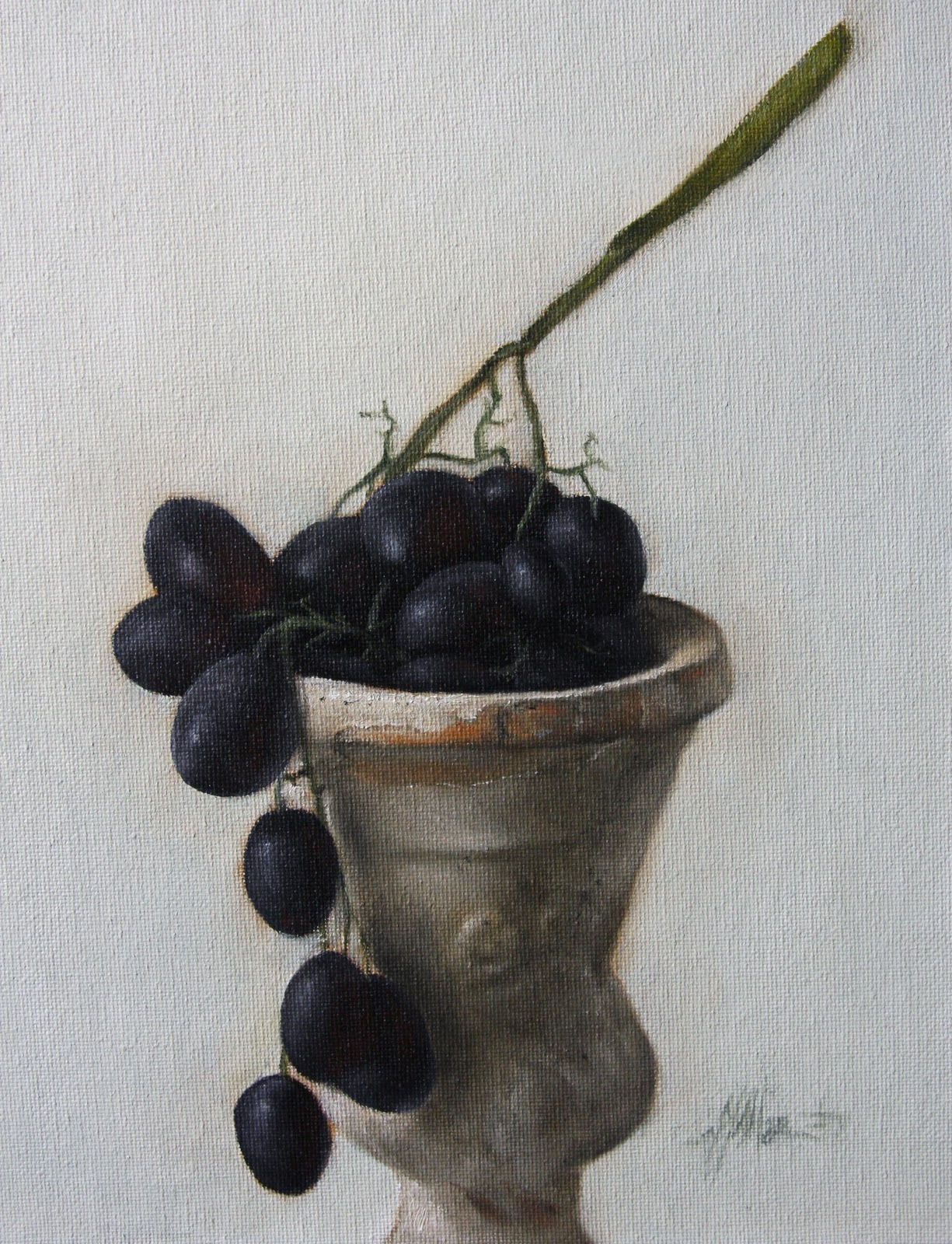 """Black Grapes"" original fine art by Jonathan Aller"