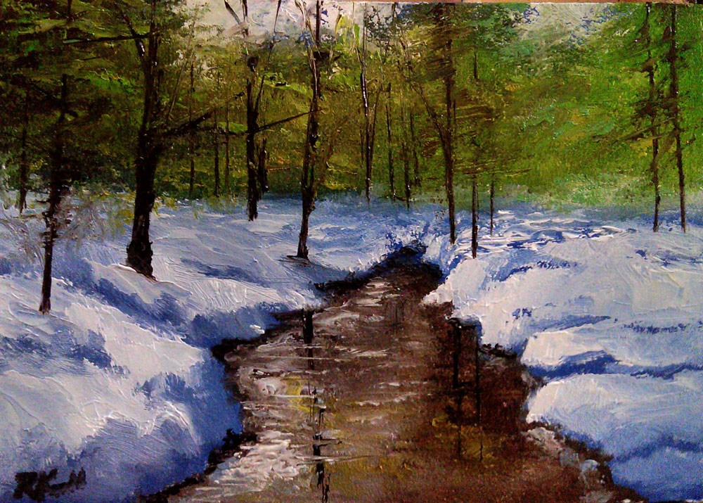 """Snowy River"" original fine art by Bob Kimball"