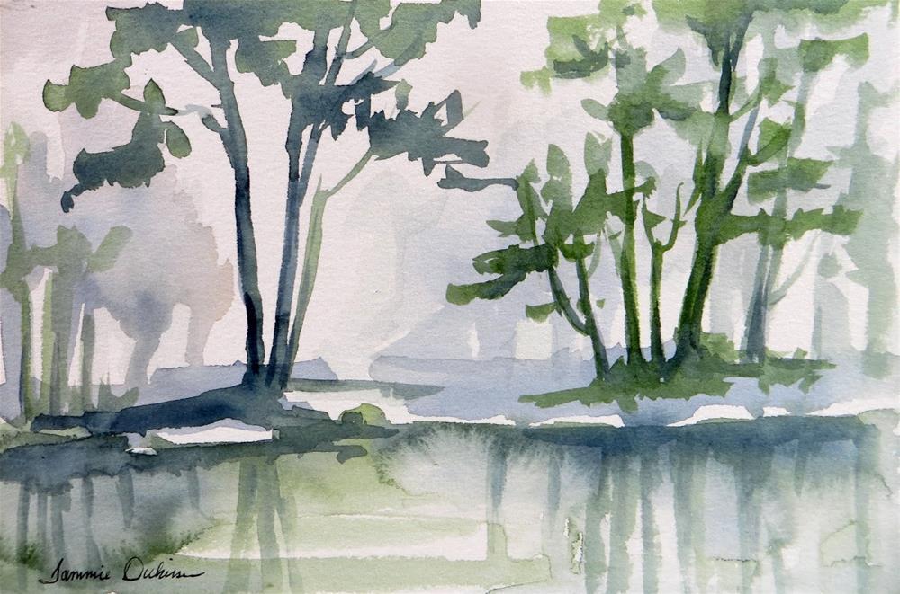 """Waterside Illusion"" original fine art by Tammie Dickerson"