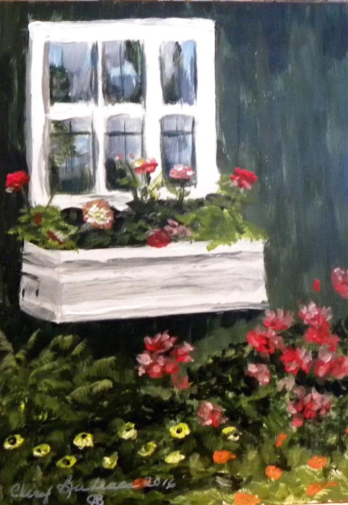 """Garden Shed"" original fine art by cheryl buhrman"