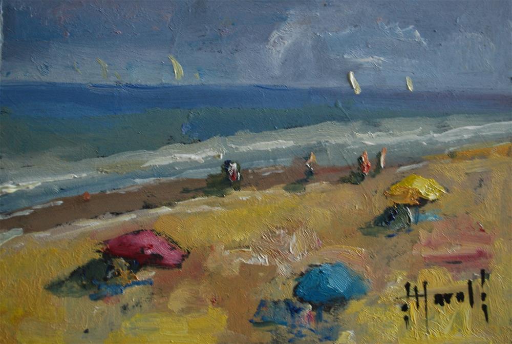"""Beach Time Study"" original fine art by Deborah Harold"