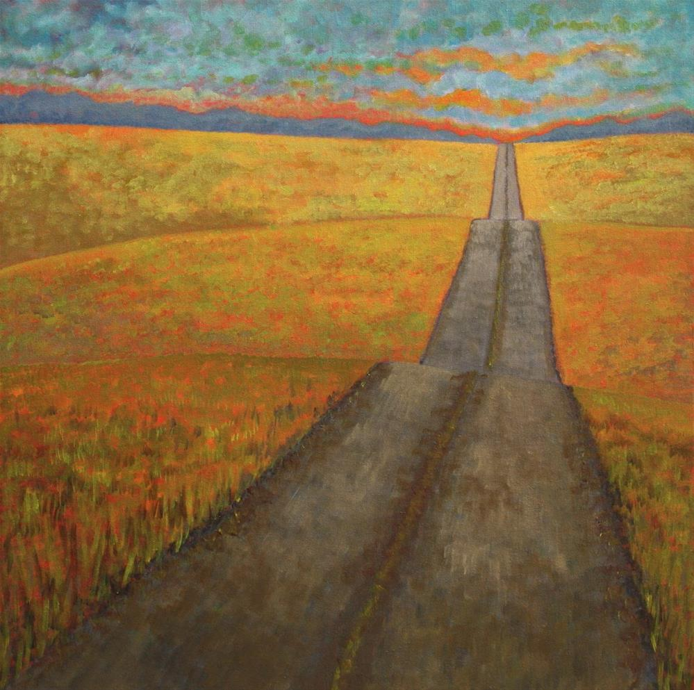 """Country Road at Sunset"" original fine art by Sage Mountain"