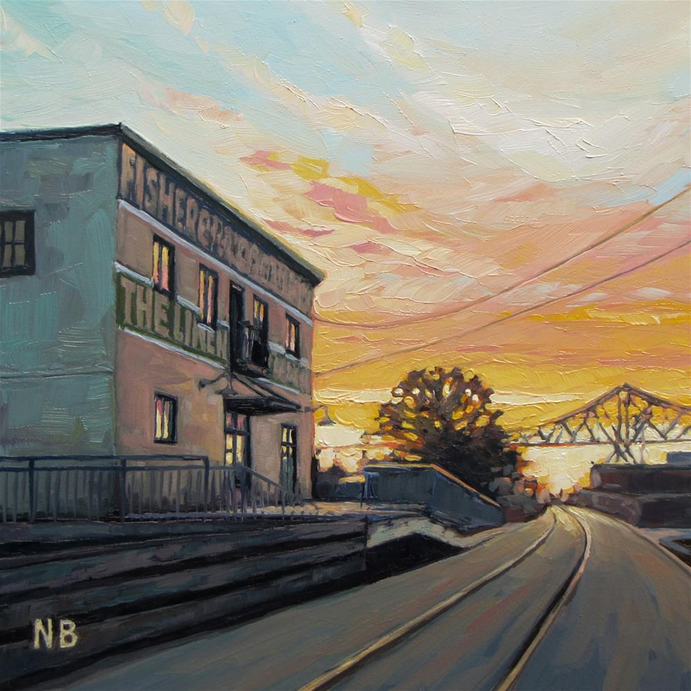 """Track Lighting"" original fine art by Nora Bergman"