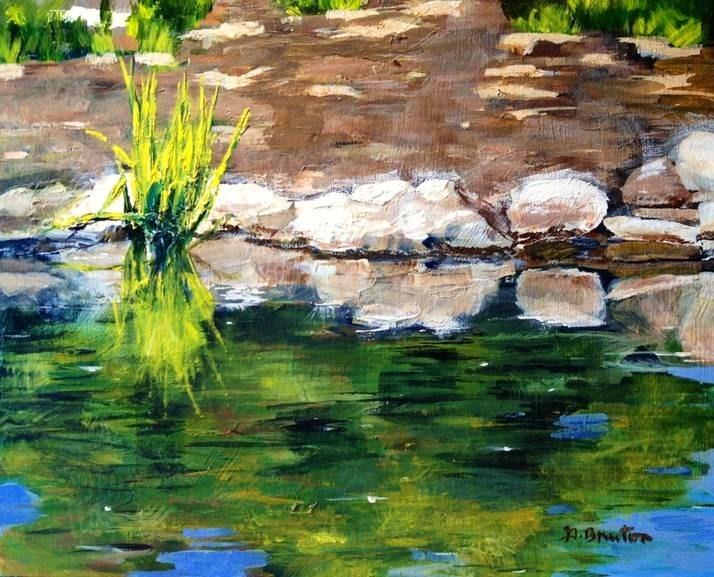 """""""Descanso Garden"""" original fine art by Gary Bruton"""