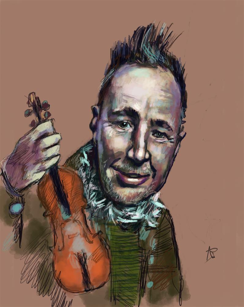 """""""Nigel Kennedy"""" original fine art by Andre Pallat"""