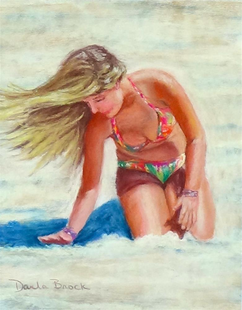 """Fun at the Beach"" original fine art by Darla Brock"