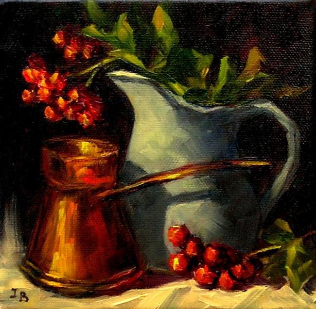 """Аutumn Nocturne"" original fine art by Irina Beskina"