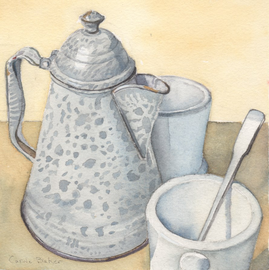 """Coffee Time"" original fine art by Carole Baker"