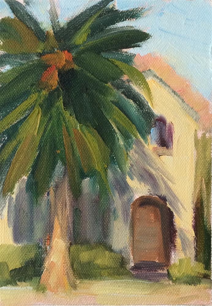 """Palm Tree"" original fine art by Naomi Bautista"