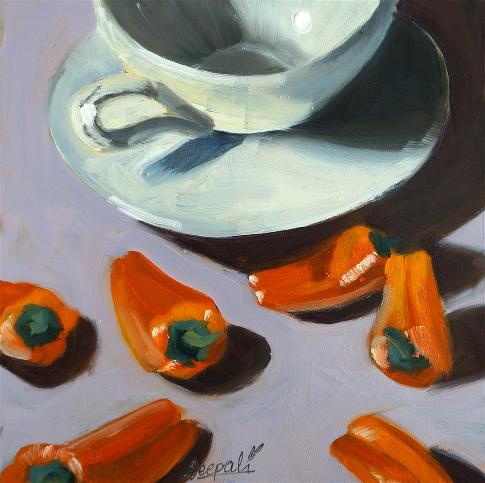 """Orange Peppers"" original fine art by Dipali Rabadiya"