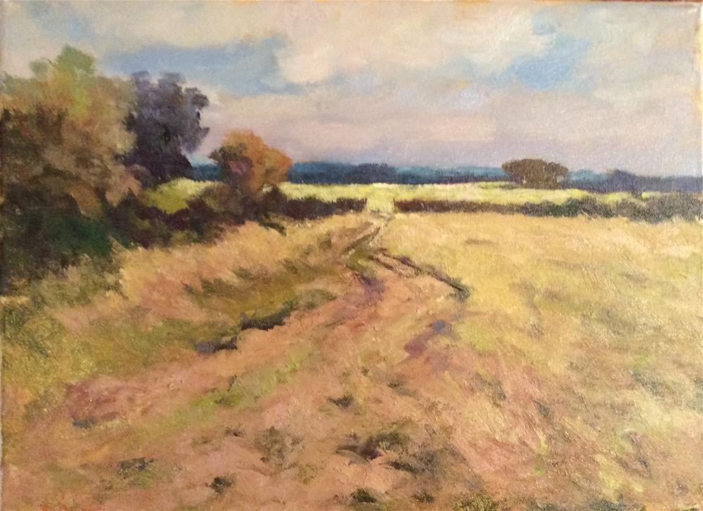 """""""Summer Landscape"""" original fine art by John Shave"""