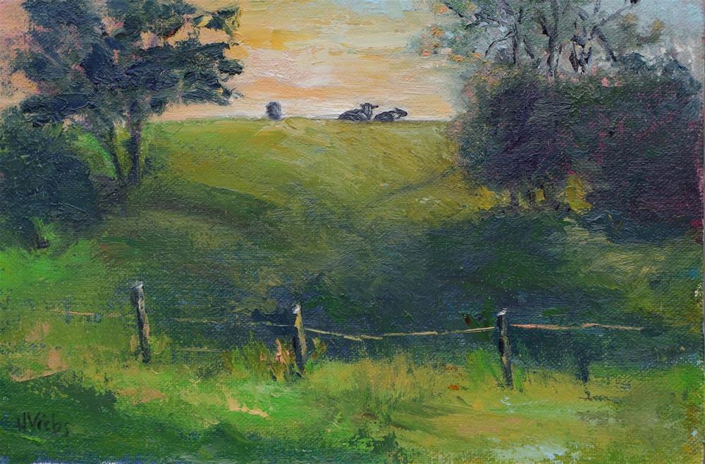 """Late Afternoon on Ghent-Mellenville Road"" original fine art by Helen Viebrock Hamel"