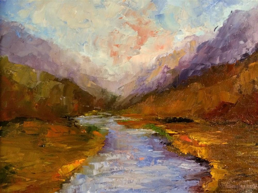 """Mountain Peaks"" original fine art by Ramya Sarveshwar"