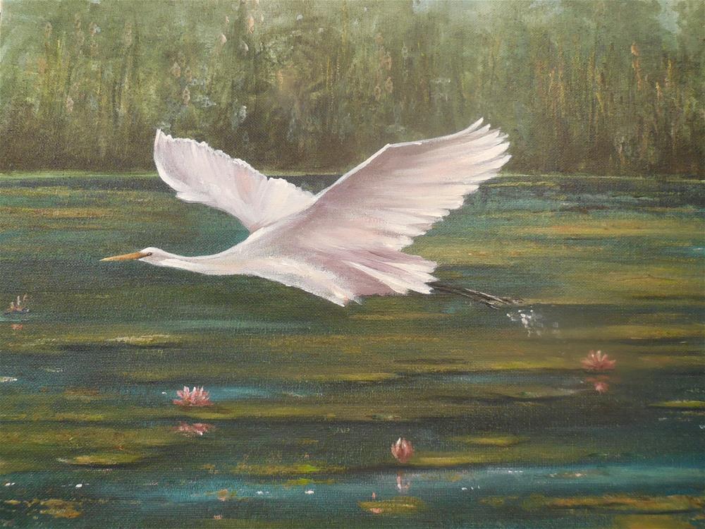 """In Flight"" original fine art by Terri Nicholson"