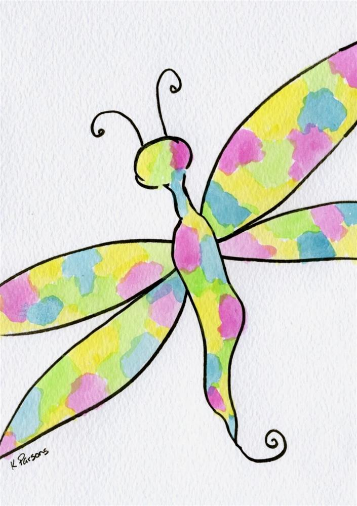 """Dragonfly"" original fine art by Kali Parsons"