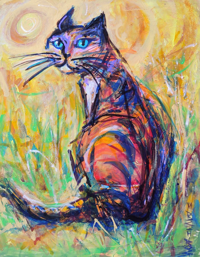"""Sun and Stripes"" original fine art by Mary Schiros"