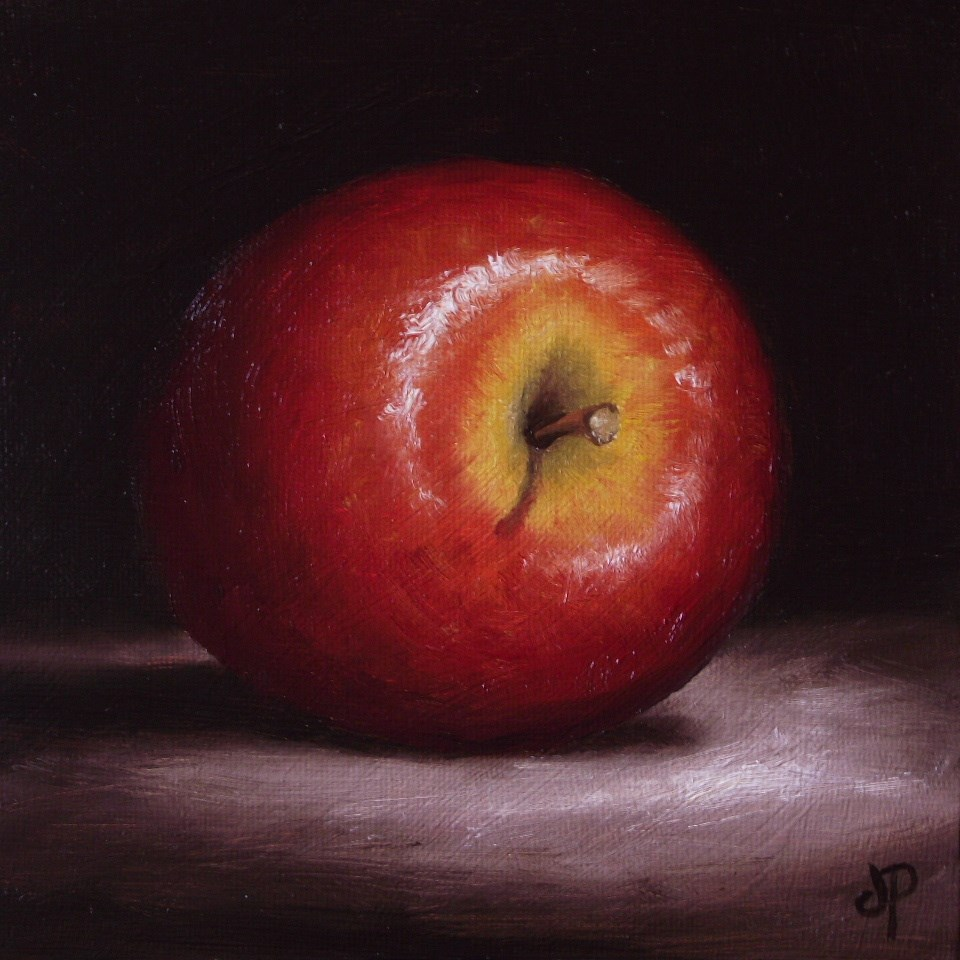 """Red Apple"" original fine art by Jane Palmer"
