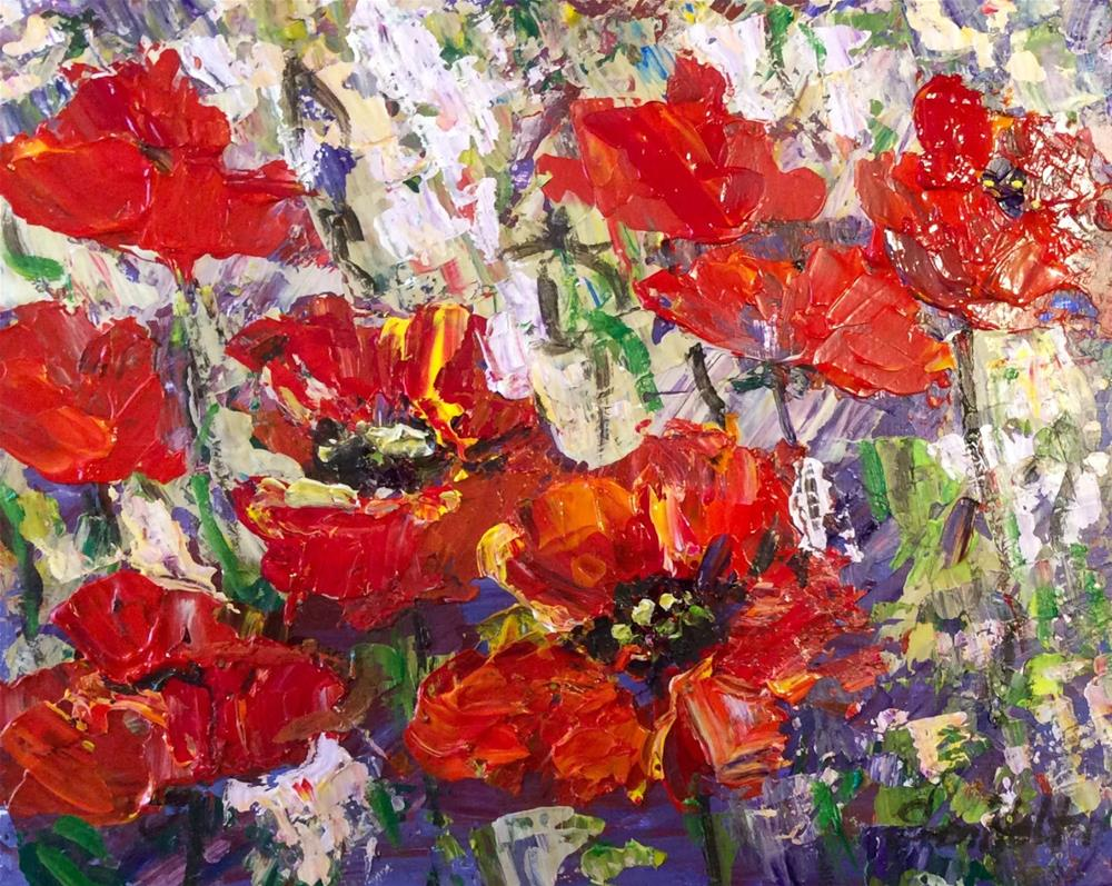 """Abundant Poppies"" original fine art by Sonia von Walter"