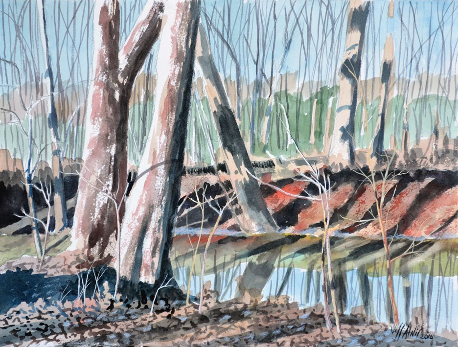 """Wolf River Banks"" original fine art by Jeff Atnip"
