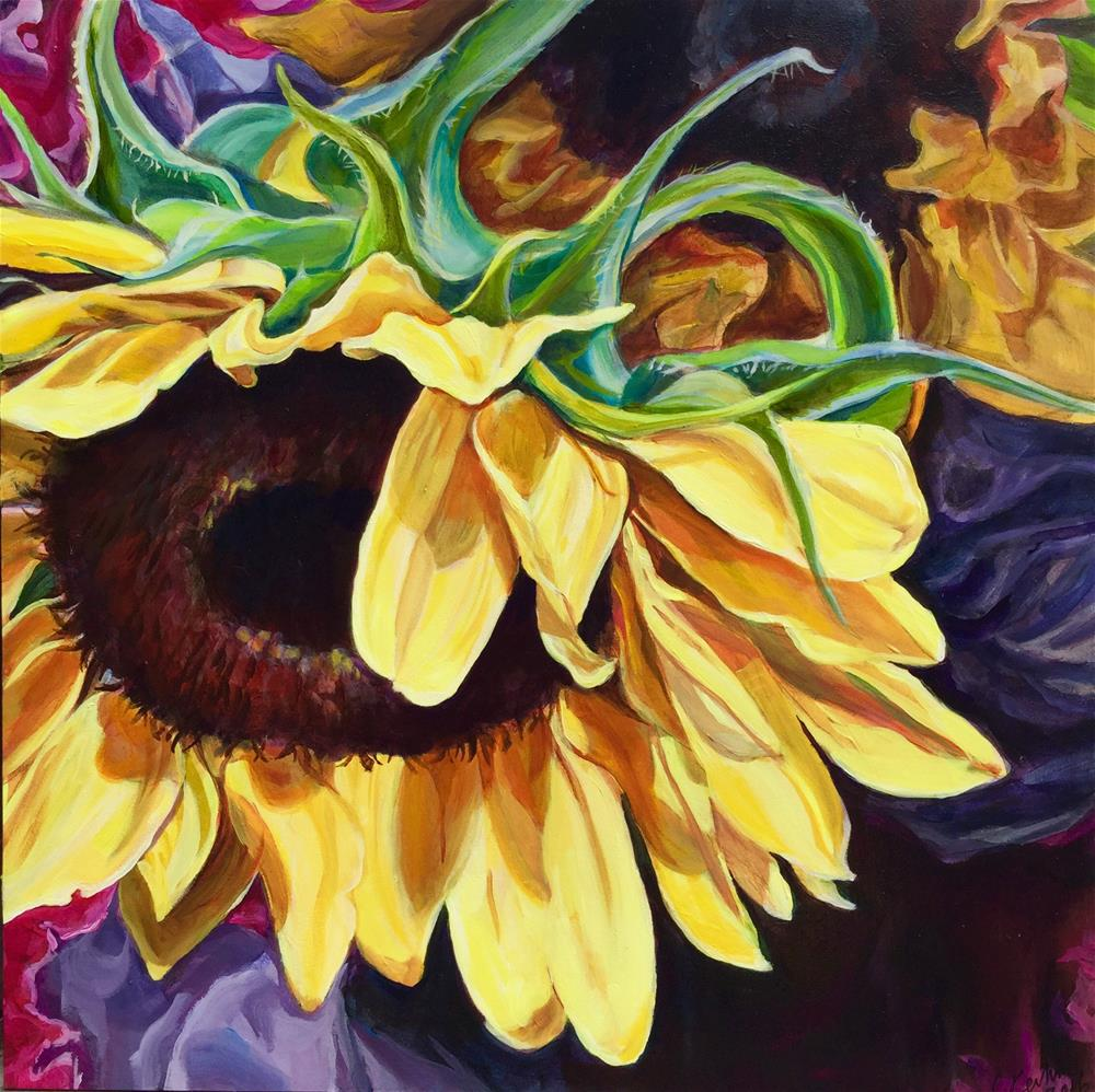 """For the Love of Sunflowers"" original fine art by Lauren Kuhn"