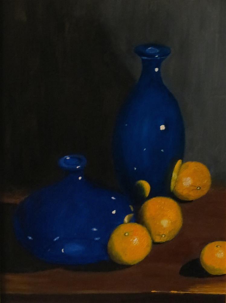 """Vases Blue"" original fine art by Bob Blackmon"