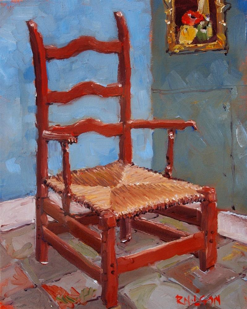 """Just like VanGogh's Chair"" original fine art by Rick Nilson"