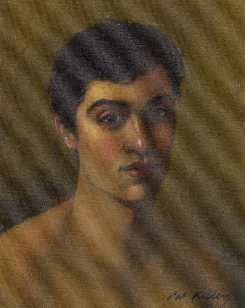 """Portrait Study of a Young Man"" original fine art by Pat Kelley"