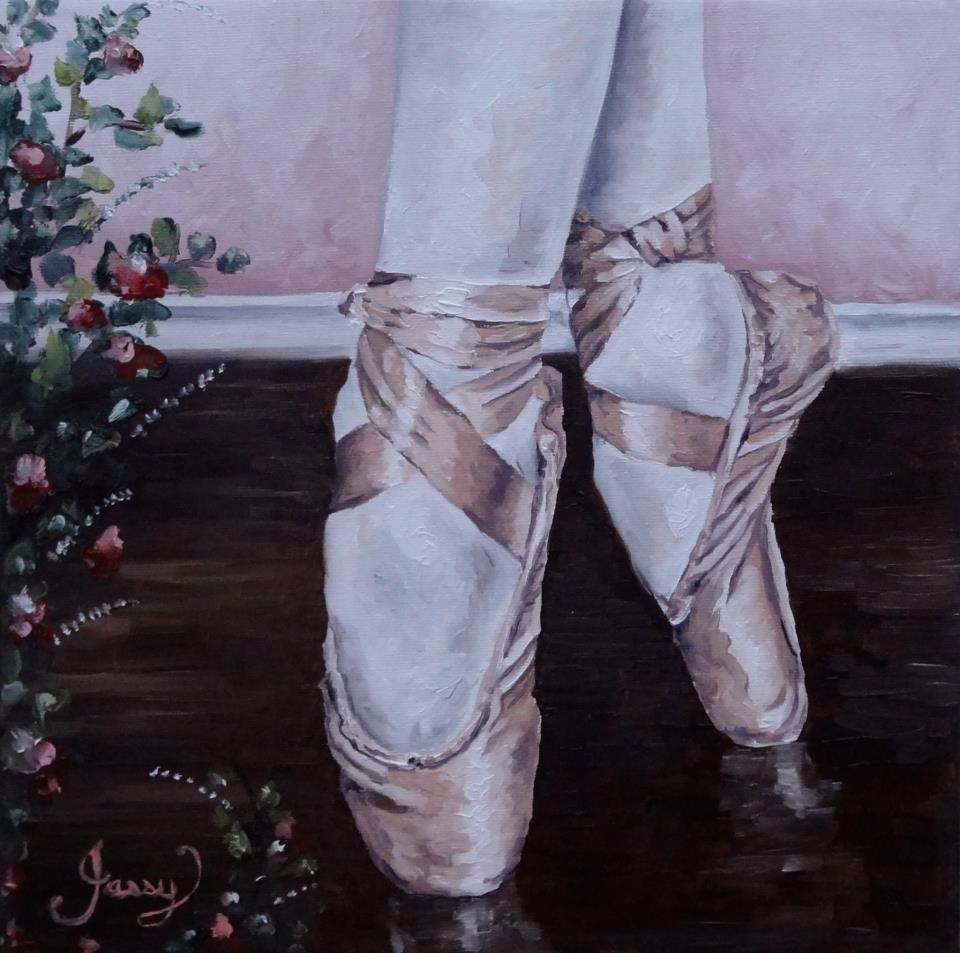 """Little ballerina."" original fine art by Jacinthe Rivard"
