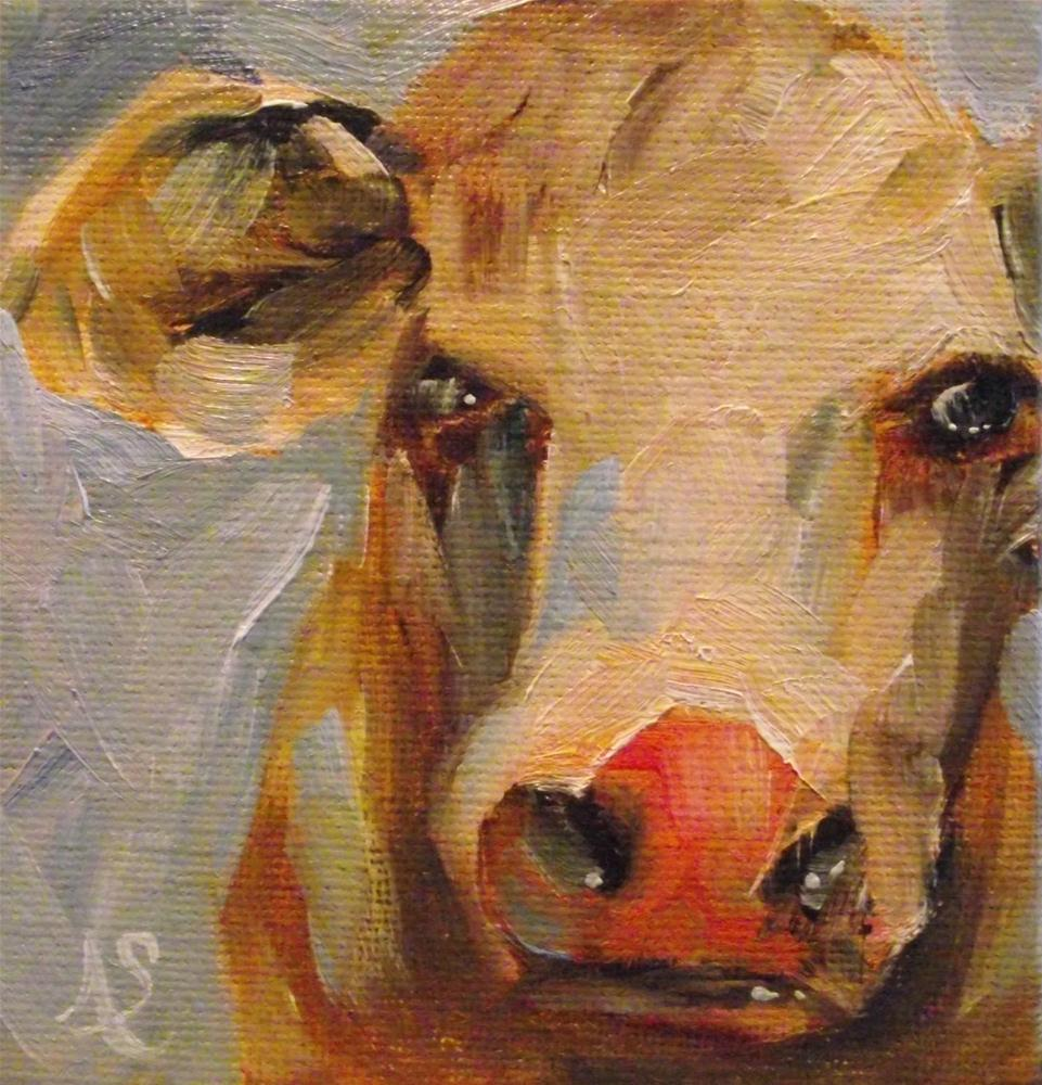 """Any Cow"" original fine art by Angela Sullivan"