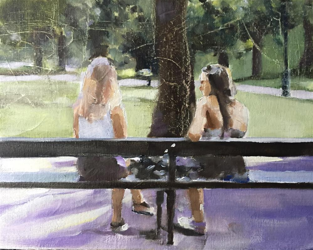 """Girlfriends"" original fine art by James Coates"