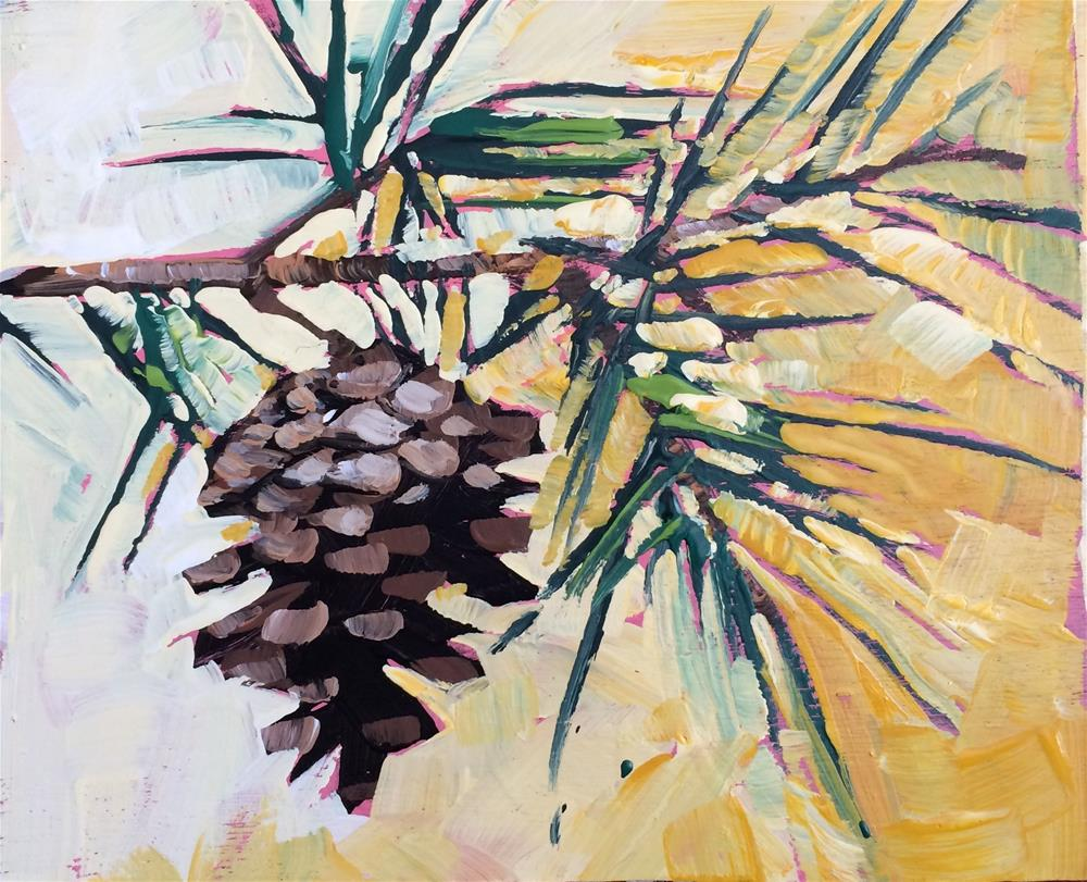 """Winter Pine No.1"" original fine art by Teddi Parker"