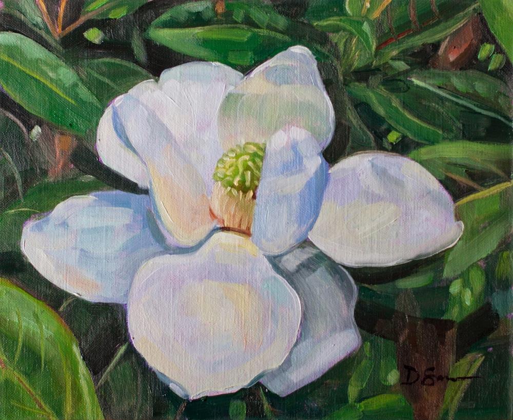 """Magnolia"" original fine art by Deborah Savo"