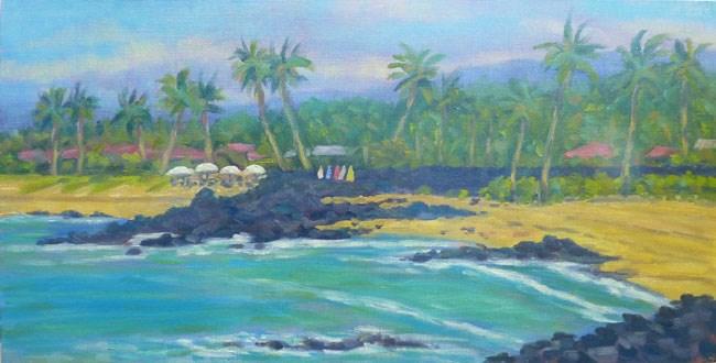 """Kukio Beach View"" original fine art by Stan Chraminski"